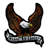 "48 Units of Embroidered iron on patch, approx. 3"" in size, ""REBEL BY CHOICE"", - Novelties"
