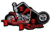 "48 Units of Embroidered iron on patch, ""Rebel Rider"", approx. 4"" wide - Novelties"