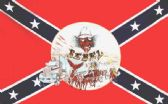 12 Units of 3' x 5' polyester Rebel Flag with Buggy and Truck and Skull, with grommets - Flags