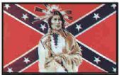 12 Units of 3' x 5' polyester Rebel flag w/ Indian with grommets - Flags