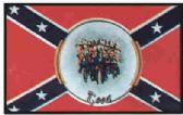 """12 Units of 3' x 5' polyester Rebel flag, """"Brothers in the Wind"""" with grommets - Flags"""
