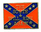 """96 Units of Brass Hat Pin, Rebel flag, """"the South Will Rise Again"""" - Hat Pins / Jacket Pins"""