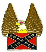 96 Units of Brass Hat Pin, Rebel flag, with/ eagl - Hat Pins / Jacket Pins