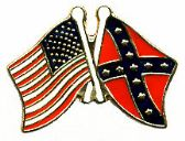 96 Units of Brass Hat Pin, Rebel, US Flags - Hat Pins / Jacket Pins