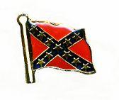 96 Units of Brass Hat Pin, Rebel flag - Hat Pins / Jacket Pins