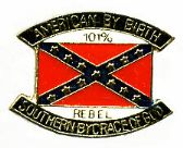 """96 Units of Brass Hat Pin, """"American By Birth, Southern By The Grace Of God - 101% Rebel"""" - Hat Pins / Jacket Pins"""