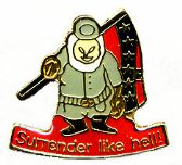 """96 Units of Brass Hat Pin, """"Surrender Like Hell!"""" - Hat Pins / Jacket Pins"""