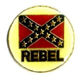 """96 Units of Brass Hat Pin, """"Rebel"""" with/ rebel flag - Hat Pins / Jacket Pins"""