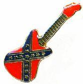 96 Units of Brass Hat Pin, Rebel guitar - Hat Pins / Jacket Pins