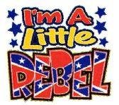 """24 Units of """"I'm a Little Rebel"""" - printed on white shirts sizes 6 months, 12 months and 24 months - Baby Apparel"""