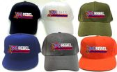 24 Units of Cap with embroidered patch, REBEL/flag, assorted colors (hat colors may vary from picture) - Baseball Caps/Snap Backs