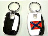 """36 Units of 2"""" Metal keychain with brass Rebel Flag - 'The South Will Rise Again' insignia, individually gift boxed - Key Chains"""