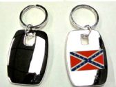 """36 Units of 2"""" Metal keychain with brass Rebel Flag insignia, individually gift boxed - Key Chains"""