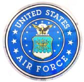 """12 Units of 12"""" Round decal, Unites States Air Force - Novelties"""