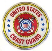 """12 Units of 12"""" Round decal, United States Coast Guard - Novelties"""