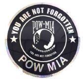 "12 Units of 12"" Round decal, POW-MIA - Novelties"