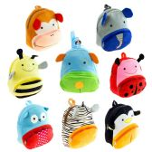 """24 Units of 12"""" Kids Plush Animal Backpack in 8 Assorted Prints - Backpacks 15"""" or Less"""