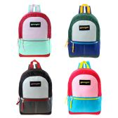 """24 Units of 17"""" Backpacks in 4 Assorted Colors - Backpacks 17"""""""
