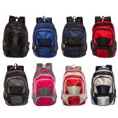 "24 Units of 19"" Adult Padded Backpack in 6 Assorted Colors - Backpacks 18"" or Larger"