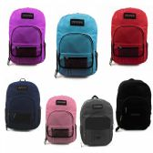 "24 Units of 19"" Backpacks with Pocket Organizer in 7 Assorted Colors - Backpacks 18"" or Larger"