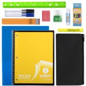24 Units of 12 Piece School Supply Kit - School Supply Kits