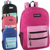 "24 Units of High Trails 19 Inch Double Zip Backpack With Two Side Mesh pockets - Backpacks 18"" or Larger"