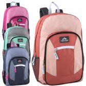 """24 Units of Trailmaker 19 Inch Multi Pocket Backpack- Girl Colors - Backpacks 18"""" or Larger"""