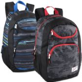 "24 Units of Urban Sport 18 Inch U Pocket Backpack - Printed - Backpacks 18"" or Larger"