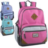 "24 Units of Trailmaker 19 Inch Duo Compartment Backpack with Laptop Sleeve - Girls - Backpacks 18"" or Larger"