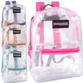 24 Units of Trailmaker Classic 17 Inch Clear Backpack - Girls - Backpacks 17""