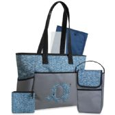 12 Units of 5 in 1 Diaper Tote Bag - Blue Elephant - Baby Diaper Bag