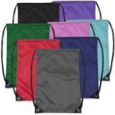 48 Units of Kids 15 Inch Promo Drawstring Bag - 8 Colors - Draw String & Sling Packs