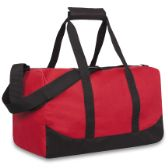 24 Units of 17 Inch Duffel Bag Red Color Only - Duffle Bags