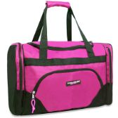 24 Units of Trailmaker Deluxe 20 Inch Duffel Bag With Large Side Pockets- Pink Color Only - Duffle Bags