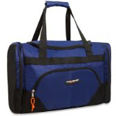 24 Units of Trailmaker Deluxe 20 Inch Duffel Bag With Large Side Pockets- Blue Color Only - Duffle Bags