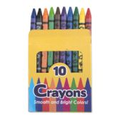 96 Units of 10 Pack Of Crayons - Chalk,Chalkboards,Crayons