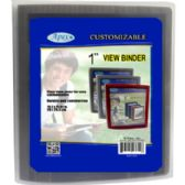 """36 Units of 1"""" View Binders - Assorted Colors - Binder"""