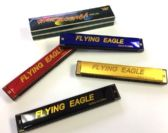 """24 Units of 7"""" Metal harmonica - assorted colors - Musical"""