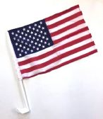"24 Units of 10.25"" X 16"" Single-sided USA car flag, - Auto Accessories"