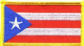 """36 Units of Embroidered iron-on patch, Puerto Rico, approx. 3.25"""" wide - Novelties"""