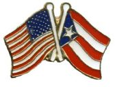 96 Units of Brass Hat Pin, US & Puerto Rico flags - Hat Pins / Jacket Pins