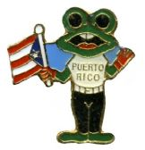 96 Units of Brass hat pin, frog and Puerto Rico flag - Hat Pins / Jacket Pins