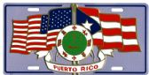 "24 Units of 6"" x 12"" Metal license plate, Puerto Rico, U.S. Flags - Auto Accessories"