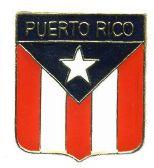 96 Units of Brass Hat Pin, Puerto Rico shield - Hat Pins / Jacket Pins