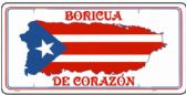 "24 Units of 6"" x 12"" Metal license plate, ""Boricua De Corazon"" - Auto Accessories"