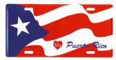 "24 Units of 6"" x 12"" Metal license plate, ""Yo (love) Puerto Rico"" - Auto Accessories"
