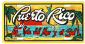 "24 Units of 6"" x 12"" Metal license plate, ""Puerto Rico - La Isla del Mar Y Del Sol"" - Auto Accessories"