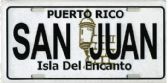 "24 Units of 6"" x 12"" Metal license plate, ""Puerto Rico - San Juan - Isla Del Encanto"" - Auto Accessories"