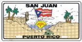 "24 Units of 6"" x 12"" Metal license plate, ""San Juan Puerto Rico"" - Auto Accessories"