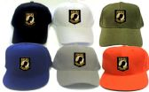 24 Units of Twill cap with embroidered patch, POW-MIA - Baseball Caps/Snap Backs